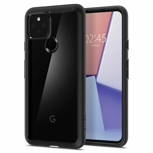 Google Pixel 5 Case, Spigen Ultra Hybrid Clear Slim Cover - Matte Black