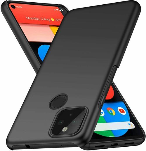 For Google Pixel 5 Case Ultra Slim Hard Back Cover - Matte Black