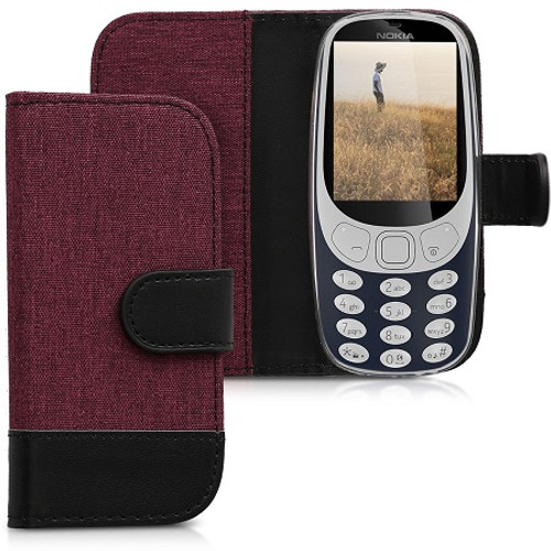 Fabric PU Leather Wallet Case for Nokia 3310 (2017)