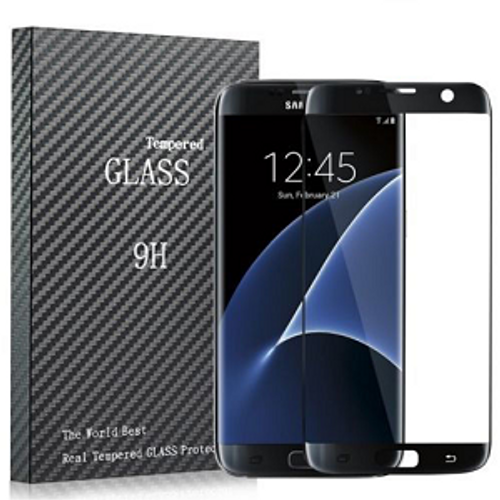 Full Curved 3D Tempered Glass Screen Protector For Samsung Galaxy S6 Edge Black