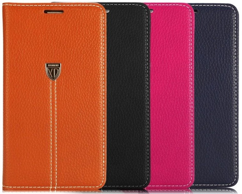 Galaxy S6 Edge Plus Luxury Magnetic Flip Cover Stand Wallet Leather Case - Pink