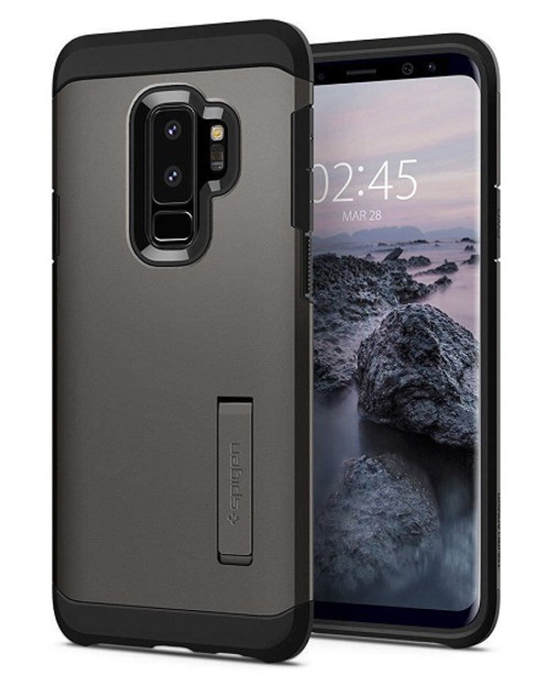 Galaxy S9 Plus Case, Spigen Tough Armor Cover Case - Gunmetal