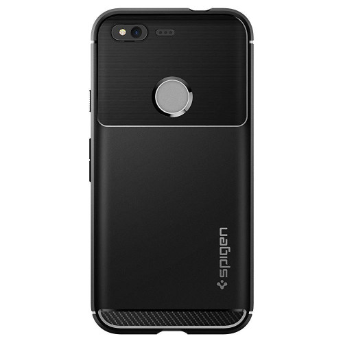 Google Pixel Case Spigen Rugged Armor Black Case
