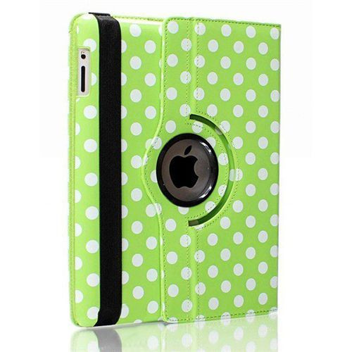 Green and White polka PU Leather 360 Rotating Case for Samsung Galaxy Tab PRO 8.4 (T320/T321/T325)