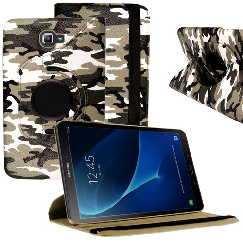"""Green Camouflage PU Leather 360 Rotating Case for Samsung Galaxy Tab PRO 8.4"""" SM-T320/T325"""