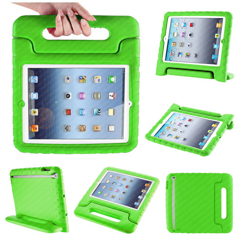 Green Extra Protection Bumper Shock-Proof Shell Case for iPad 2/3/4