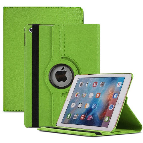 Green PU Leather 360 Rotating Case for iPad Air 2