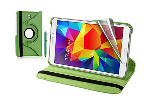 Green PU Leather 360 Rotating Case for Samsung Galaxy Tab 4 Nook 7.0 (T230)
