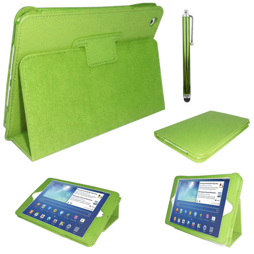 Green PU Leather Magnetic Case for Samsung Galaxy Tab 3 8 (T310/T311)