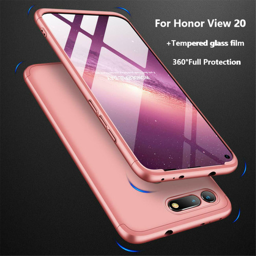 Honor View 20 Rose Gold Protective Hybrid Case + Tempered Glass Cover