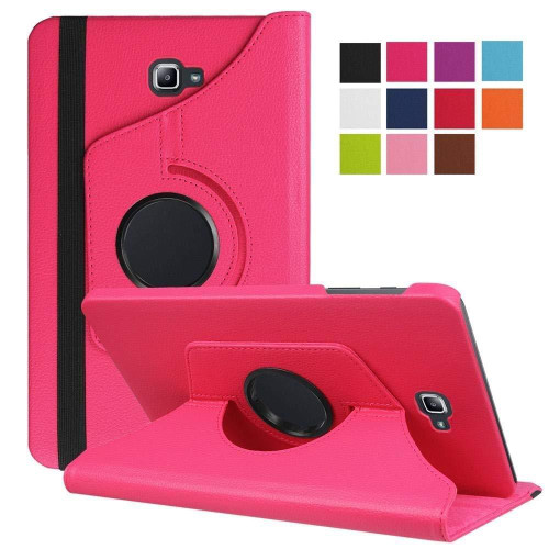 Hot Pink PU Leather 360 Rotating Case for Samsung Galaxy Tab 3 8.0 (T310/T311)
