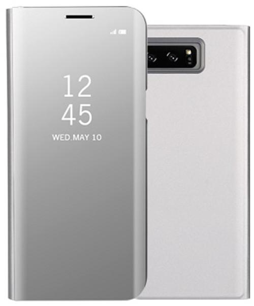 Huawei P20 Pro  Smart Mirror Window View Flip Stand Case Silver