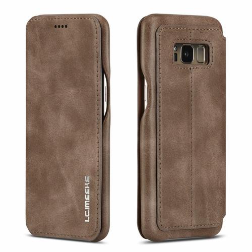 Huawei P30 Pro Dark Brown Vintage Leather Wallet Case