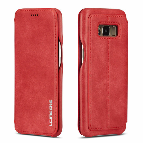 Huawei P30 Pro Red Vintage Leather Wallet Case