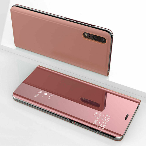 Huawei P30 Pro Rose Gold Mirror View Flip Case Cover