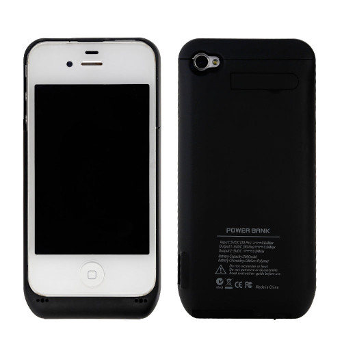 iPhone 4/4S Black Portable External  Power Bank  Charger