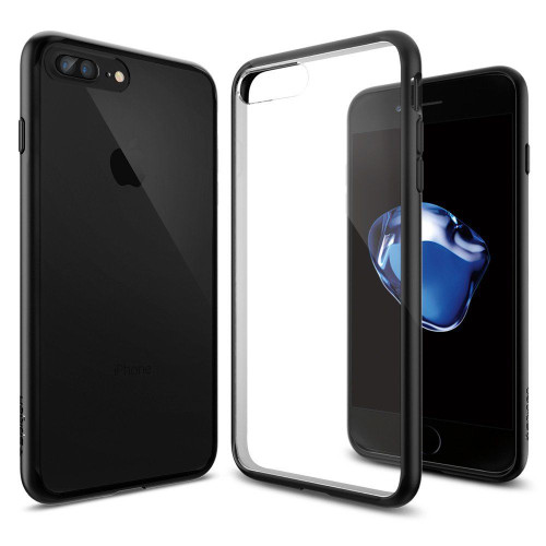 iPhone 7 Plus Case, Spigen Ultra Hybrid Series Black Cases