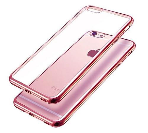 iPhone 7 TPU Gel Crystal Clear Rose Gold  Back Case