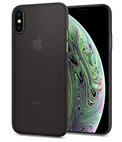 iPhone XS Spigen Air Skin Black Case