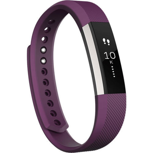 Large FitBit Alta Replacement Strap with Metal Clasp-Plum Purple