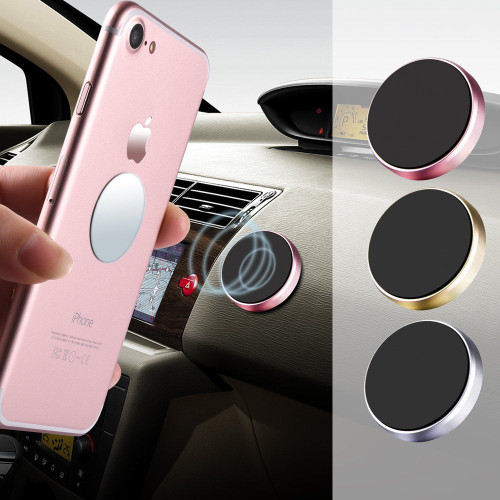 Magnetic Gold Car Dashboard Holder For All Phones