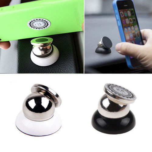 Magnetic Support Cell Phone Car Dash Holder Stand For iPhone 5, 6, 6S - Black