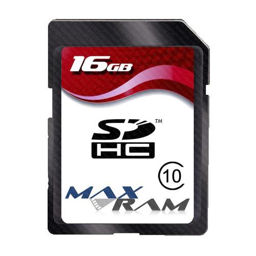 MaxRam 16 GB SDHC Memory Card