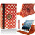Red With White Polka Dot PU Leather 360 Rotating Case for iPad 2/3/4