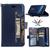 Samsung Galaxy S8 Navy Blue Flip Card Stand case