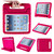 Deep Pink Extra Protection Bumper Shock-Proof Shell Case for iPad 2/3/4