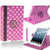 Light Pink & White Polkadot PU Leather 360 Rotating Case for iPad Air 2