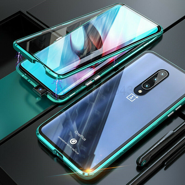 One Plus 7 Pro Green Magnetic Metal Case Cover
