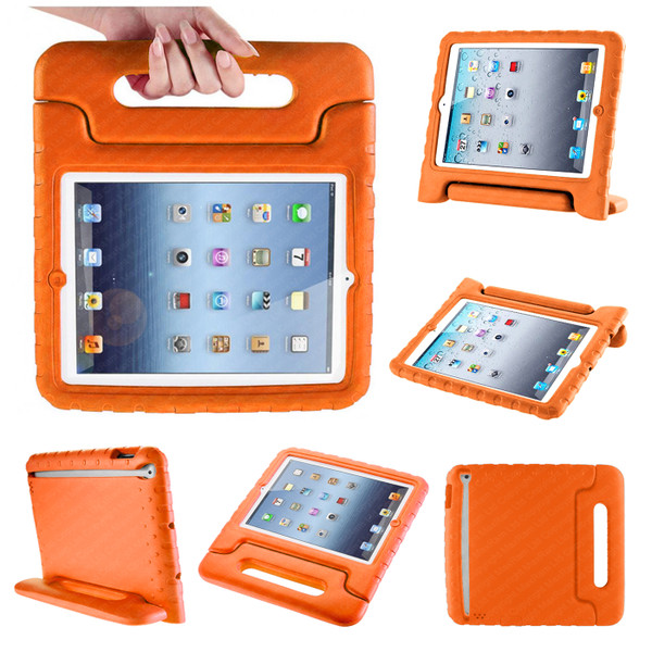 Orange Extra Protection Bumper Shock-Proof Shell Case for iPad 2/3/4