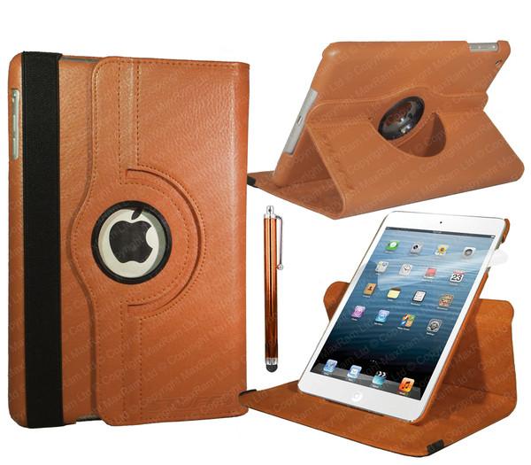 Orange PU Leather 360 Rotating Case for iPad Air 2
