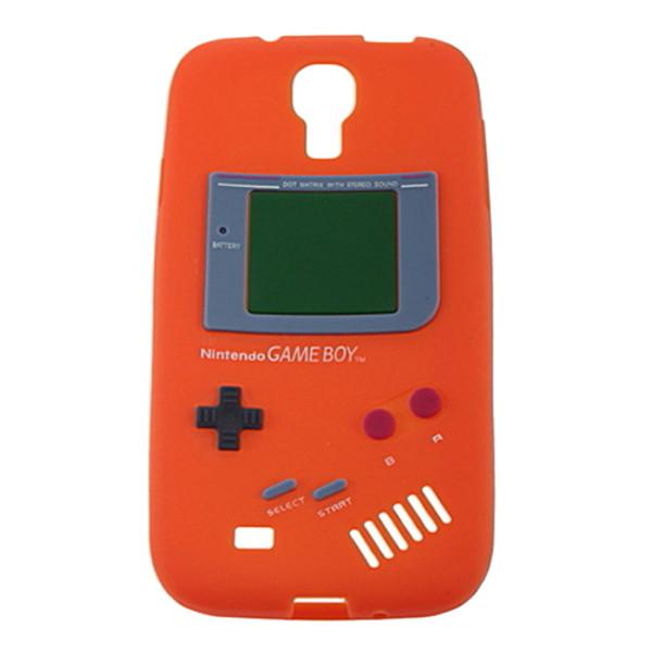 Orange Retro GameBoy Case for Samsung Galaxy I9500 S4 + Screen Protector