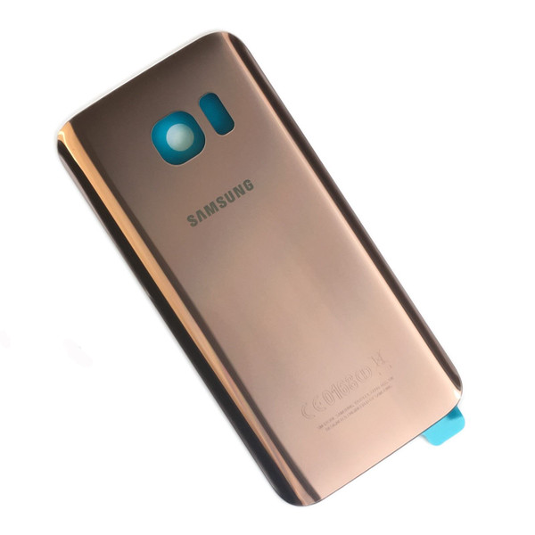 Original Rose Gold Back Battery Cover Glass For Samsung Galaxy S7 Edge