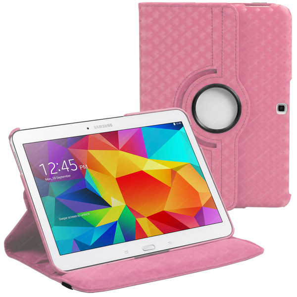 Pink Diamond PU Leather 360 Rotating Case for Samsung Galaxy Tab 4 Nook 10.1 (T530)