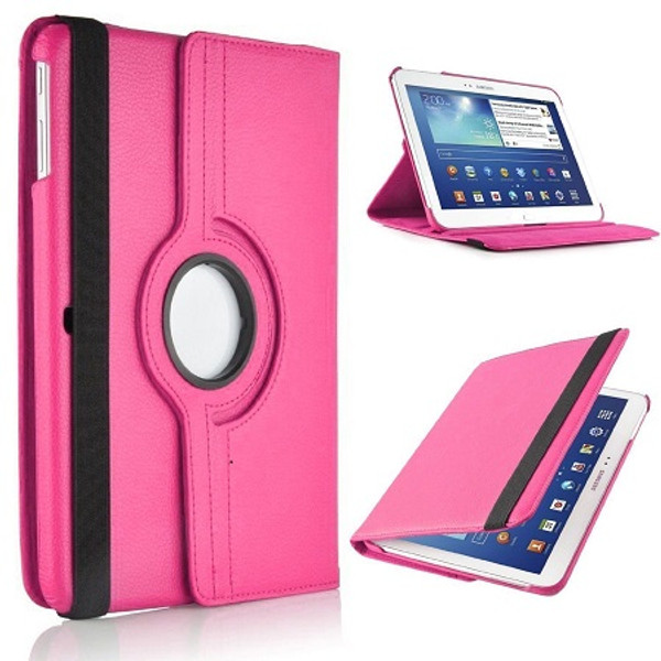 Pink PU Leather 360 Rotating Case for Samsung Galaxy Tab S 8.4 (T700/T701/T705)