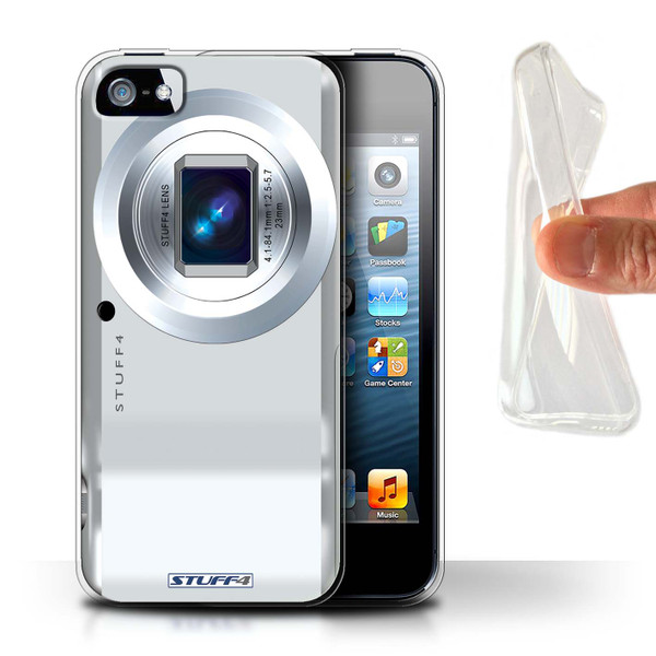 Protective Gel/TPU Case for Apple iPhone 5/5S / Camera Collection / Compact