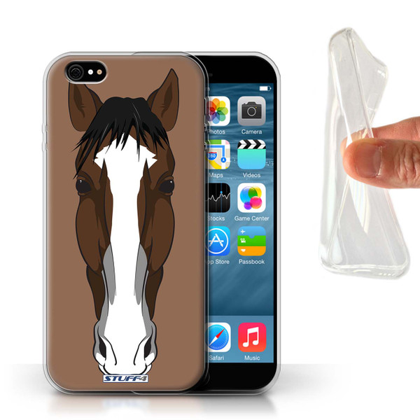 Protective Gel/TPU Case for Apple iPhone 6/6S / Animal Faces Collection / Horse