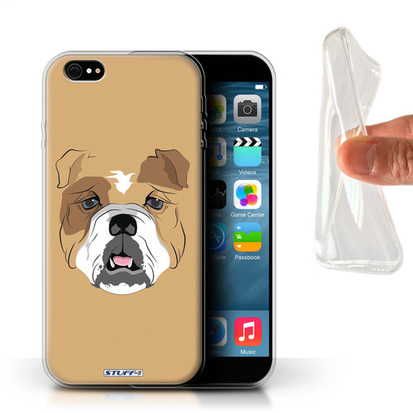 Protective Gel/TPU Case for iPhone 6+/Plus 5.5 / Animal Faces Collection / Dog/Bulldog