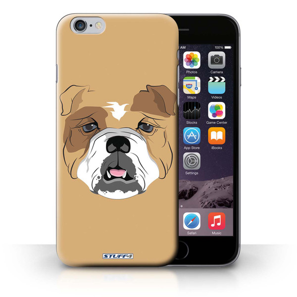 Protective Hard Back Case for iPhone 6+/Plus 5.5' / Animal Faces Collection / Dog/Bulldog