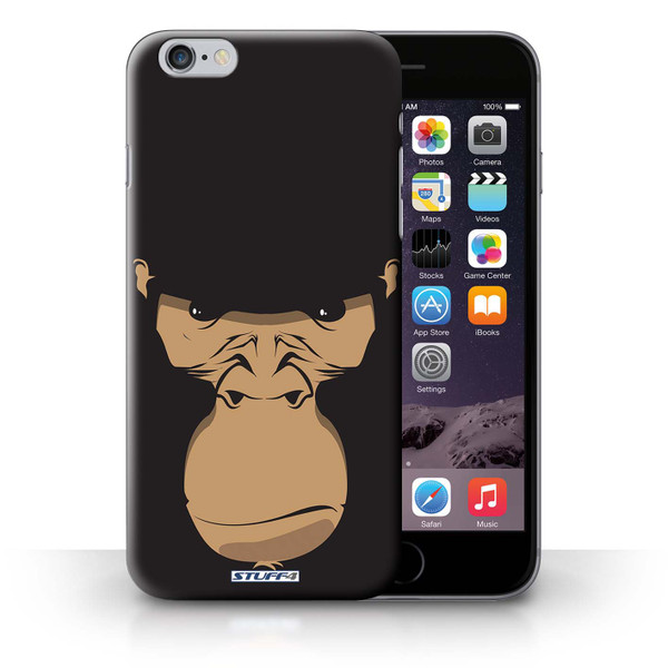 Protective Hard Back Case for iPhone 6+/Plus 5.5' / Animal Faces Collection / Gorilla/Chimp/Monkey