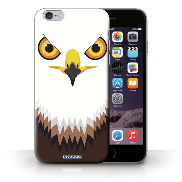 Protective Hard Back Case for iPhone 6+/Plus 5.5' / Animal Faces Collection / Hawk/Eagle