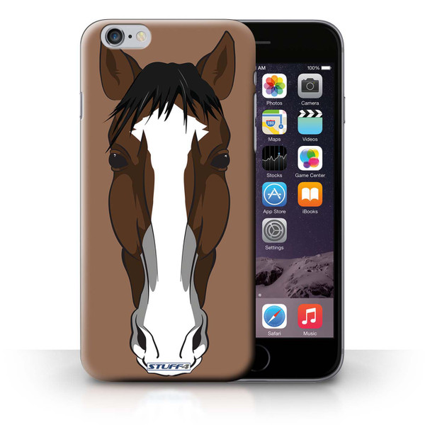 Protective Hard Back Case for iPhone 6+/Plus 5.5' / Animal Faces Collection / Horse