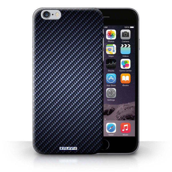 Protective Hard Back Case for iPhone 6+/Plus 5.5' / Carbon Fibre Effect/Pattern Collection / Blue