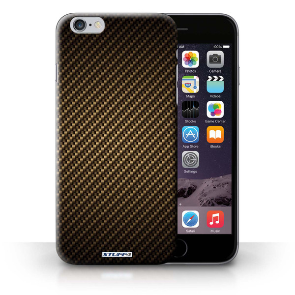 Protective Hard Back Case for iPhone 6+/Plus 5.5' / Carbon Fibre Effect/Pattern Collection / Gold