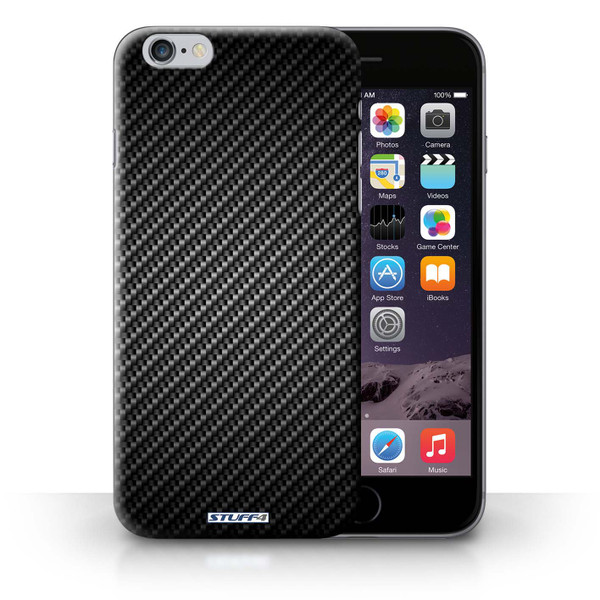 Protective Hard Back Case for iPhone 6+/Plus 5.5' / Carbon Fibre Effect/Pattern Collection / Grey