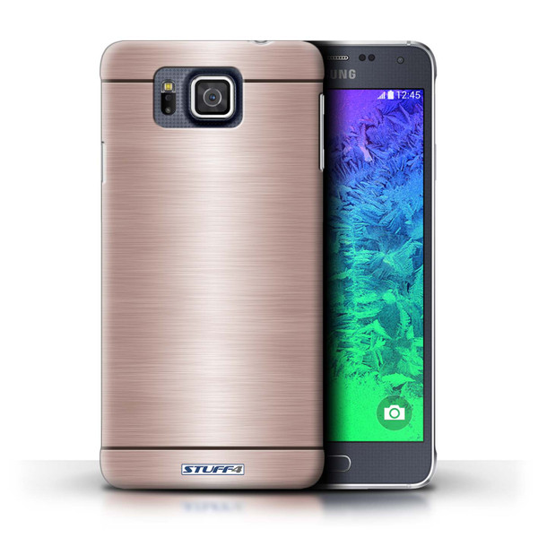 Protective Hard Back Case for Samsung Galaxy Alpha / Brushed Metal Effect/Pattern Collection / Copper