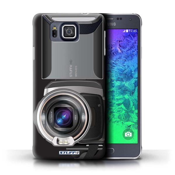 Protective Hard Back Case for Samsung Galaxy Alpha / Camera Collection / Video Camcorder